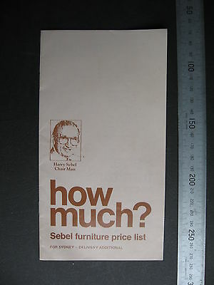 Sebel Furniture Price List  25th year 10 pages