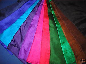 2 x Coloured Silk to store Tarot & Oracle Cards in CHOOSE from 6 colours