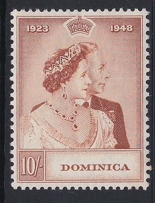 Dominica 1948 Silver Wedding 10/- red-brown RSW mint sg113