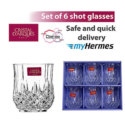 CRISTAL D'ARQUES LONGCHAMP 6 SHOT GLASSES 4.5cl
