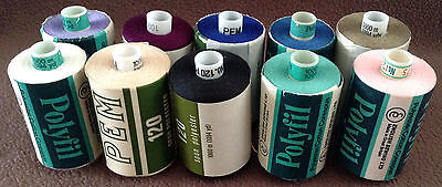 10 Polyfil & Pem Wrapped Thread Stretch Polyester Cotton/Polyester Sewing 1000m