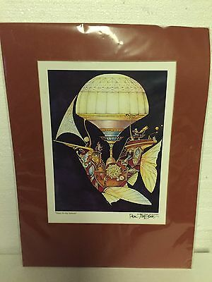 Wizard Air Ship Seeker Print 1984 Whimsical World Of Pocket Dragons
