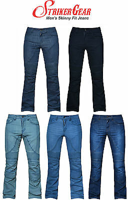 Mens Motorbike Motorcycle Trousers Skinny Jeans With Protective Lining