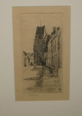 RARE Original SEARS GALLAGHER France CITY Architecture Buildings SIGNED Etching