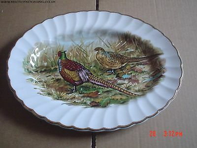 Liverpool Road Pottery Ltd Oval Pheasant Plate #4