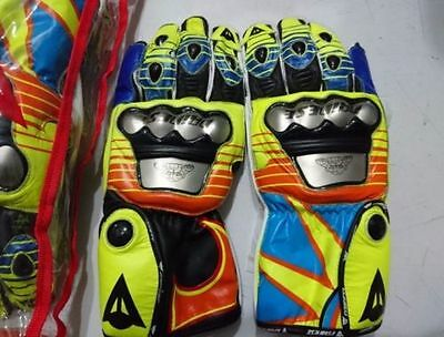 Latest Gloves VR46 | Valentino Rossi Metal Motorbike Racing Leather Gloves