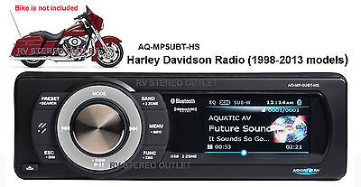 Aquatic AV AQ-MP-5UBT-HS SiriusXM upgrade/replacement stereo for Harley-Davidson