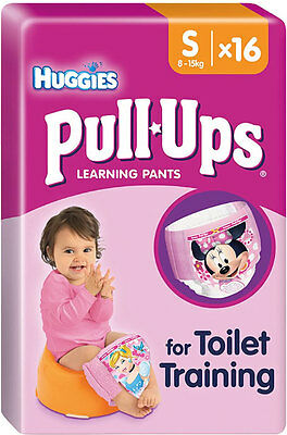 Huggies Pull-Ups Potty Training Pants for Girls Size 4 Small 8-15kg (16)