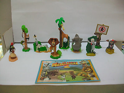 Kinder Madagascar 2 Serie Completa + 1 Cartina