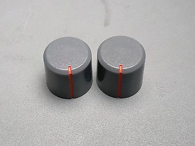 Plastic Knob, D Shaft, Gray with orange indicator, 15.5mm OD, 15mm tall, 100 pcs
