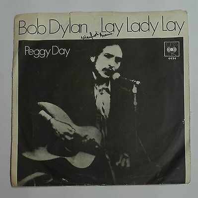"59119 45 giri - 7"" - Bob Dylan - Lay lady lay; Peggy Day - CBS 1969"