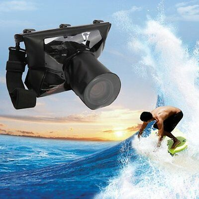 20M DSLR SLR Camera Waterproof Underwater Housing Case Pouch Bag For Canon Nikon