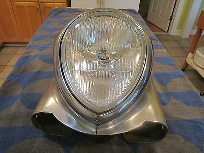 """""""Indian"""" style Headlight Housing with light and trim ring"""