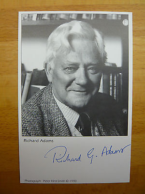 Richard Adams Signed Autograph On Postcard 1990 Watership Down Author Signature