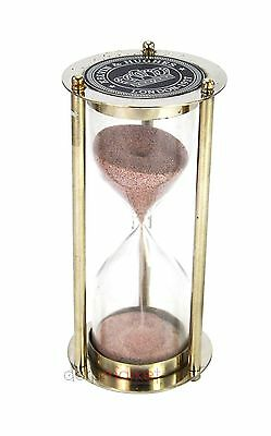 "Kelvin & Hughes London , 5 Minutes sand timer Hour Glass 6"" Vintage Nautical"