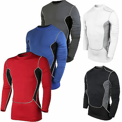 Mens Winter Cold Base Layer Long Sleeve t Shirt Thermal Undershirt Gym Top Fit