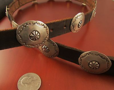 Vtg Sw  Concho  Belt  Made  Of  Quarters  Signed  T.  Ready  To  Hunt  Silver