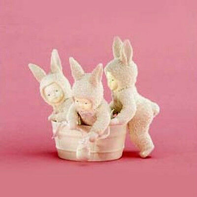 *** Dept 56 Snowbunnies Rub-A-Dub-Dub, Three Bunnies In A Tub- 50% Off - Nib ***