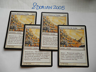 4x MTG Carica Attraverso l'Araba-Charge Across The Magic EDH SOK Liberatori x4