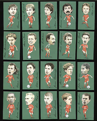 Liverpool FC Footballers Club Art Print Trade Cards