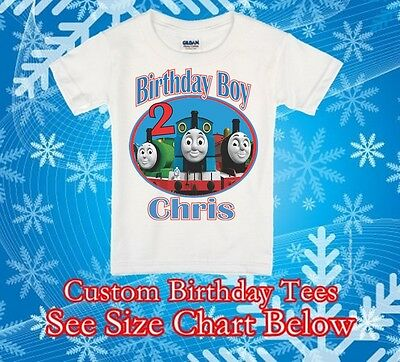 Thomas tank personalized birthday shirt engine and friends online first party