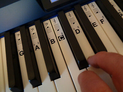 Piano / Keyboard Note Identity Stickers / Labels + Free Scale Tuition (digital)