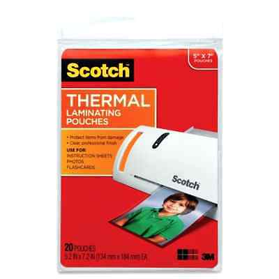 Scotch Thermal Laminating Pouches, 5 x 7-Inches, 20-Pouches (TP5903-20)