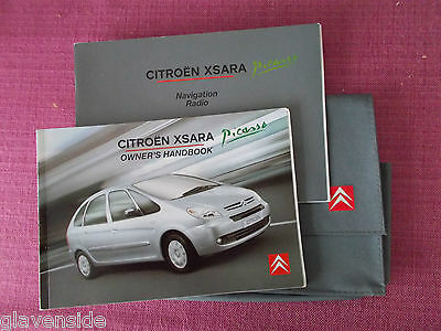 Citroen Xsara Picasso Owners Manual - Owners Guide - Handbook (Acq 4418)