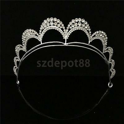 Wedding Bridal Prom Party Crystal Hair Band Tiara Crown Veil Headband