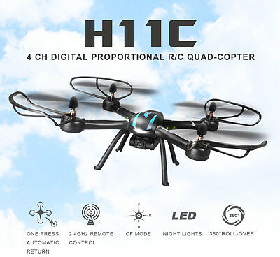 JJRC H11C 4CH 6-axis Gyro CF mode RC Quadcopter Drone with 2MP HD Camera RTF