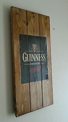 Guinness irish stout plaque wooden sign mancave shed bar pub fathers day