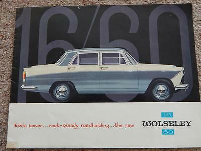 1962 Wolseley 1660 BMC CAR motoring fold out showroom sales brochure poster