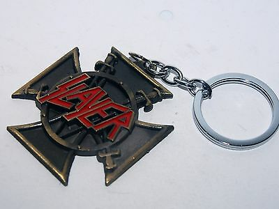 Llavero Metalico De Slayer  - Grupo Musical - Rare Heavy  Slayer  Keychain