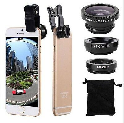 Camera Lens + Wide Angle + Macro For Mobile Cell Phone
