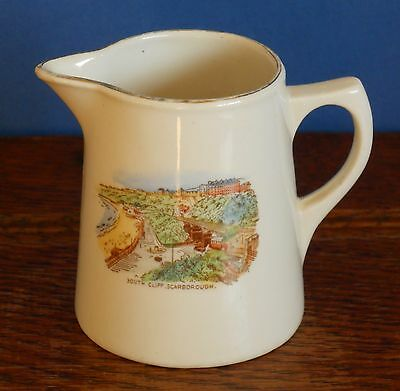 """A 3"""" tall South Cliff Scarborough Souvenir Jug by Buckfast Pottery"""