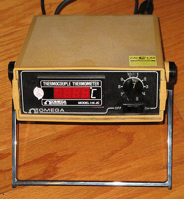 Omega Model 115 JC ADSS Thermocouple Thermometer Type J Calibration 10 Channel