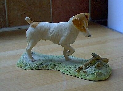 BORDER FINE ARTS JACK RUSSELL & MOUSE, Shabby Chic vintage retro