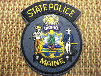 US Police Patch MAINE State Police