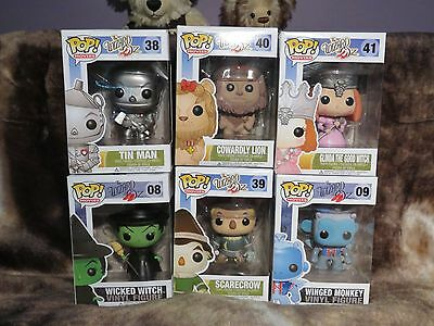Funko Pop Vinyl Toy Wizard Of Oz Set Bundle Lot Rare Vaulted Retired
