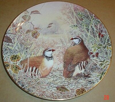 Wedgwood Collectors Plate A FROSTY BOWER - FRENCH PARTRIDGE