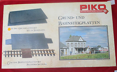 Piko G LGB 62005 Set of Baseplates (COBBLESTONE) new in ovp