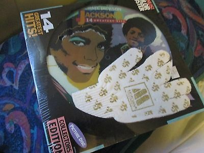 MICHAEL JACKSON picture disc SEALED GLOVE & POSTER LP FREE SHIPPING