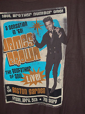 JAMES BROWN SOUL BROTHER #1 LIQUID BLUE T-SHIRT NEW OFFICIALLY LICENSED Larg