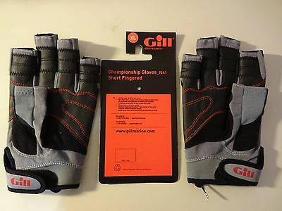 NEW w/ ORIGINAL Tags Gill Champion Boating Sailing Short Finger Gloves  # 7241