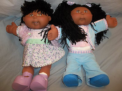 1980s Coleco CABBAGE PATCH BLACK AFRO-AMERICAN TWINS