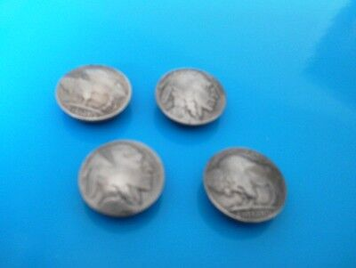 Vintage Indian Head/Buffalo Nickel Button Covers