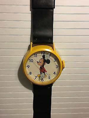 Vintage Mickey Mouse Welby by Elgin Wrist Watch Wall Clock Yellow Case