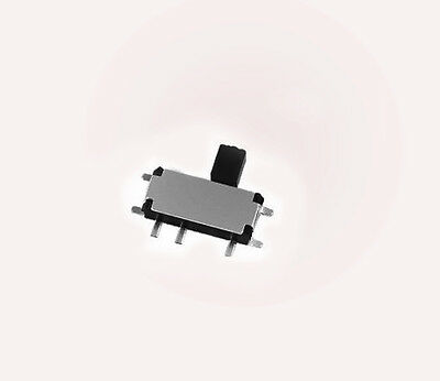 100pcs 2.7x6.7mm Micro Slide Switch SMD Toggle Switch On/Off 7 pin 2.5mm handle