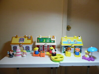 Fisher Price Little People Lunch Boxes School-Wedding Chapel-House