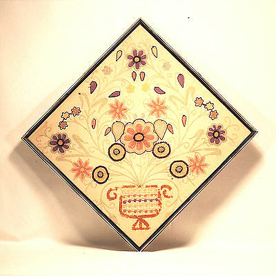 Antique Crewel Panel Hand Embroidery on Linen – Framed – Jacobean Style Picture